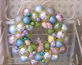 Pastel Easter Egg Ornament Wreath