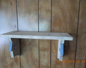 old fashion bird house design wood shelf