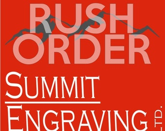 RUSH Order Upgrade - 48 Hour production for In Stock Items