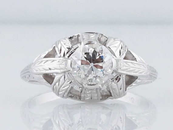 Antique Engagement Ring Art Deco 62ct Old by FiligreeJewelers