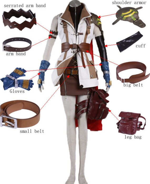 Final Fantasy lightning cosplay costume components