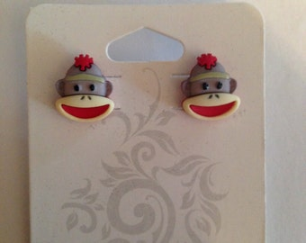 Sock Monkey Earrings!!
