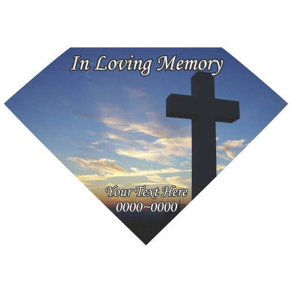 Cross In Loving Memory Full Color Diamond 006 Custom Vinyl