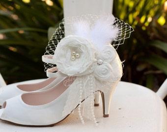 Custom Designed Vintage Inspired Ivory Wedding Hair Accessory