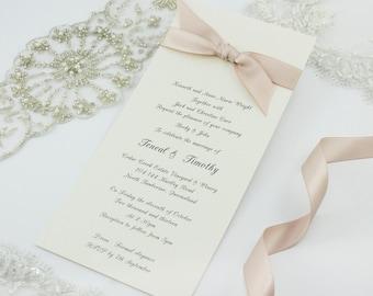 Ribbon Wedding Invitation
