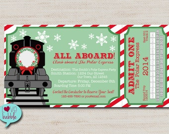 Polar Express Train Ticket Clip Art polar express – etsy ca