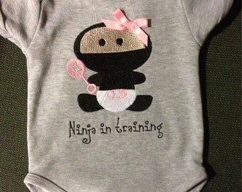 Baby Girl Ninja Onesie