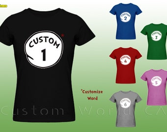 Thing 1 And Thing 2 Shirts Etsy