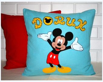 Personalized Name Pillow --Hand Painting-Mickey Mouse