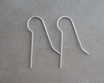 10 sterling silver shank ear wires 20 gauge