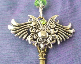 SUPER SALE Faerie / Fairy Winged Key, Crystal Beads, access the land of Fae!  Meditation, Healing, fantasy