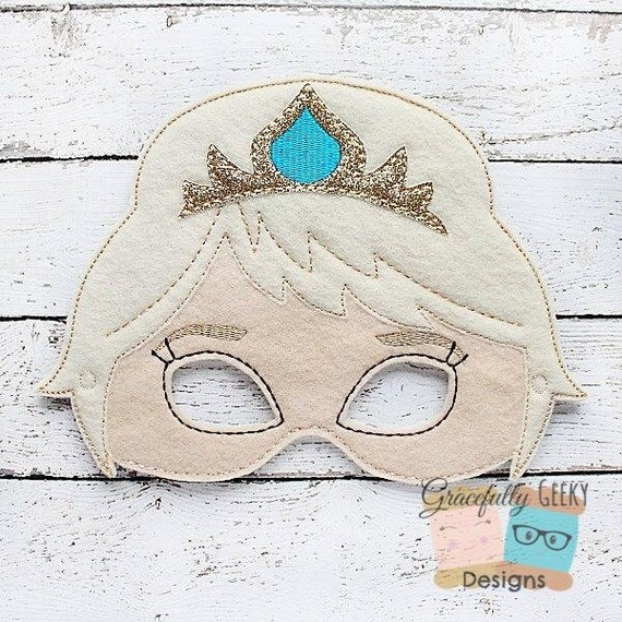 Items similar to queen felt mask embroidery design