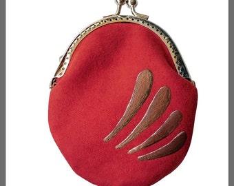 Red Wallet ANNA Paris, vintage style