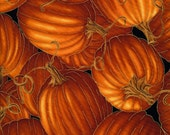 Pumpkin Fabric, Timeless Treasures Harvest CM6443 Fall Pumpkin Quilt Fabric, Autumn Quilt Fabric, Metallic Gold Outline, Autumn Splendor