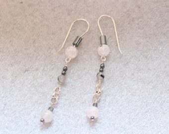 Hematite/Quartz Earrings