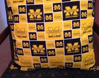 University of Michigan Pillow
