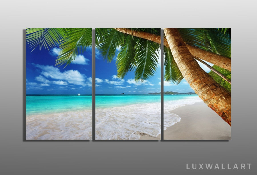 luxury tropical multi panel metal wall art ready to hang