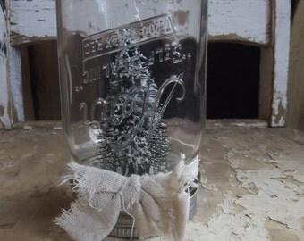 glass jar snow globe