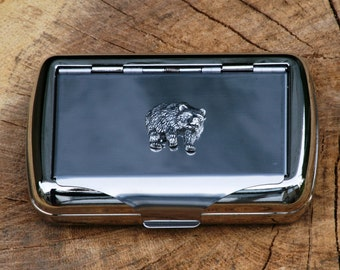 Bear Hand Rolling Tobacco Cigarette Tin Gift