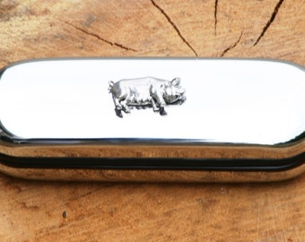 Pig Sow Pen Case & Ball Point Farming Gift FREE ENGRAVING