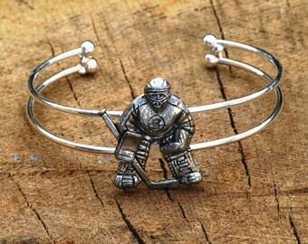 Ice Hockey Player Bracelet Bangle Ladies Gift