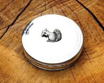 Squirrel Trinket Jewelry Box English Pewter Ladies Gift