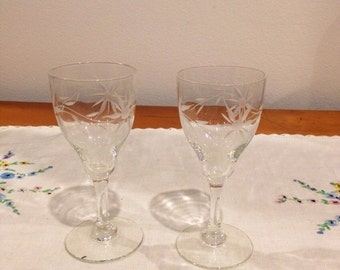 vintage sherry glasses