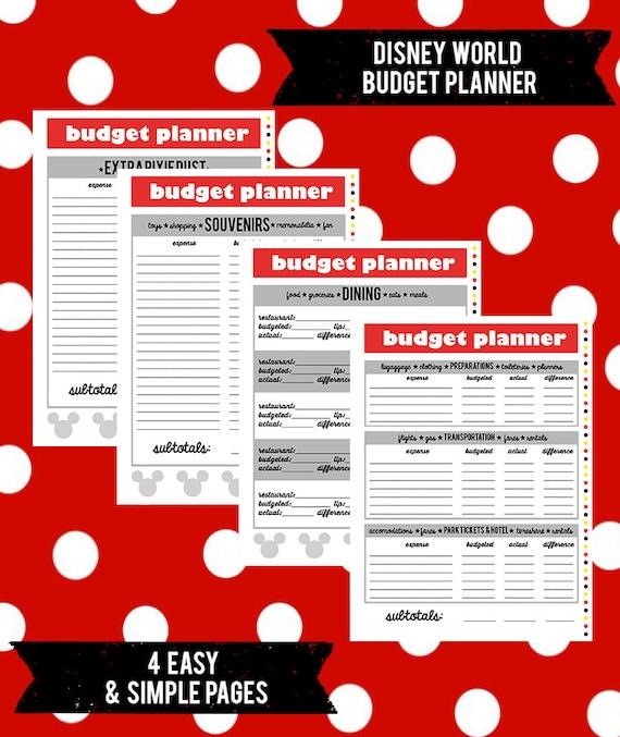 Disney World Budget Planner by MagicTravelPrep on Etsy