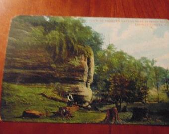 POSTCARD 1908 Fishburn Canyon Starved Rock Illinois