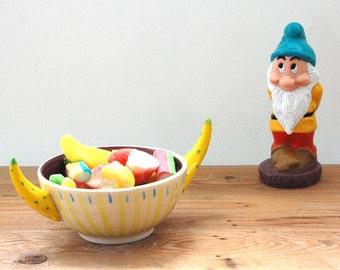 All Purpose Bowl / Ice Cream Or Candy Serving Bowl / Ceramic Pottery Bowl / Funny Gift