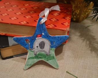 Christmas Elephant Ornament