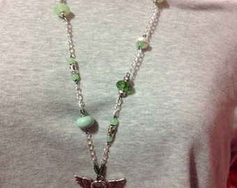 Green Key necklace