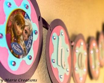 Frozen inspired Birthday Banner - Frozen Birthday Decorations