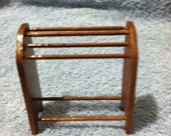"""Doll House Towel Drying Rack, handmade to Scale.1""""=1' scale FREE SHIPPING"""
