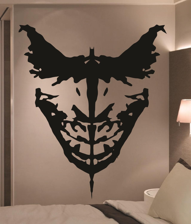 Giant Batman Joker Ink Blot Comic Vinyl Wall Art By