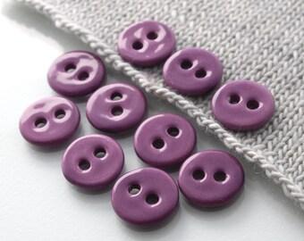"""10 Small Dark Magenta Ceramic Buttons (21 mm / 0.8"""")"""