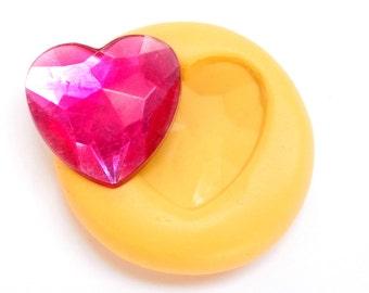 Heart Mold Mould Resin Clay Fondant Wax Soap Fimo Cabochon Kawaii Flexible Silicone Mold