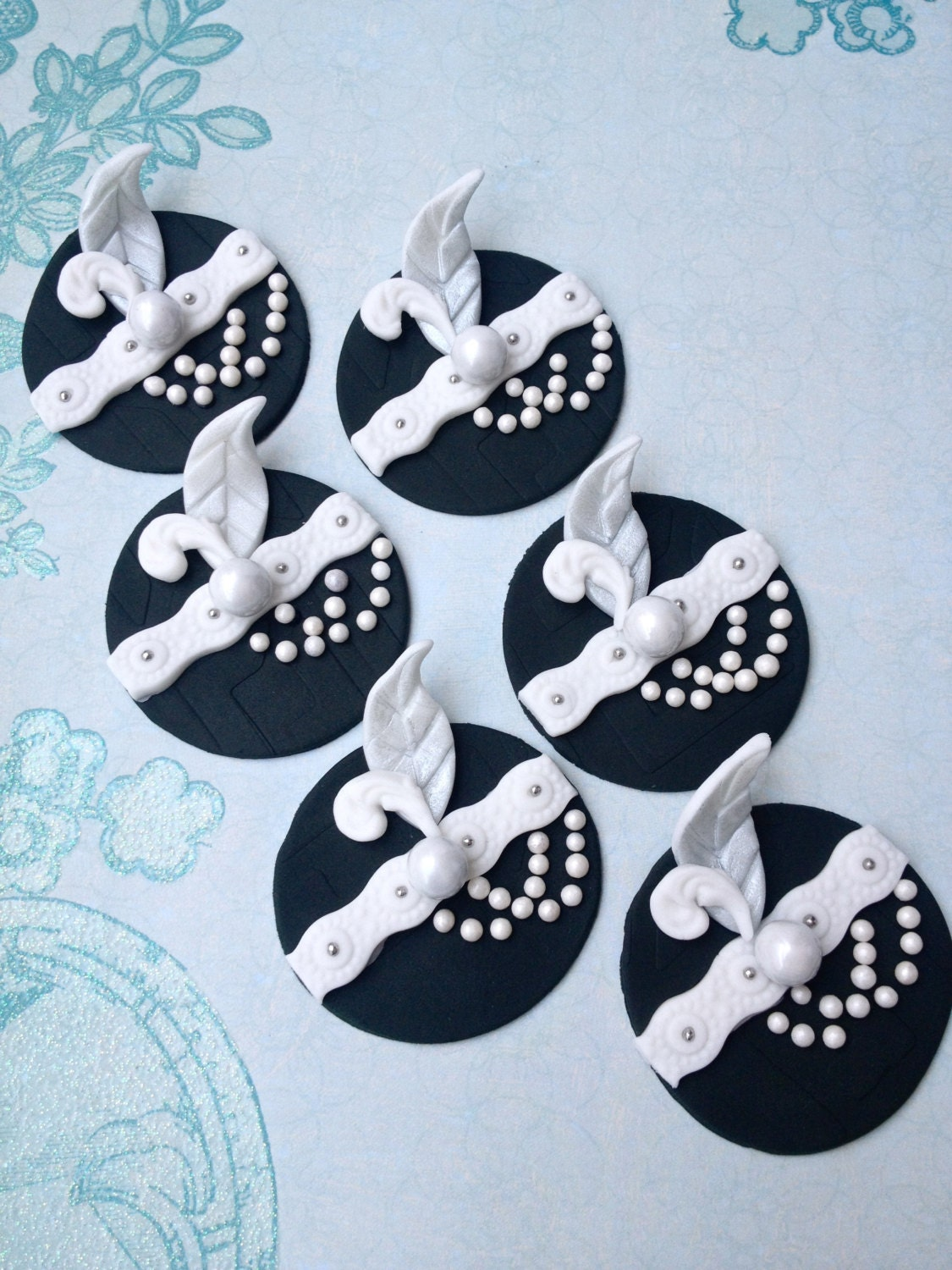 Wedding and Engagement fondant cupcake toppers made by