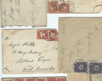 Antique German envelopes, cards & stamps circa 1900's download