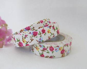 Floral Fabric Tape / Adhesive Decoration Fabric Tape  FT033