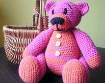 Crochet Teddy Bear Pink