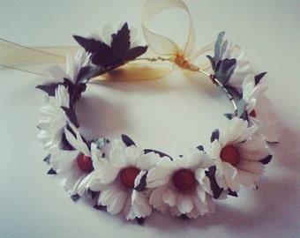 Flower Headband for Blythe White daisies