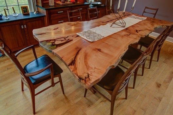 Items similar to Big Leaf Maple Dining Room Table Live  : il570xN565825669nqiz from www.etsy.com size 570 x 380 jpeg 66kB