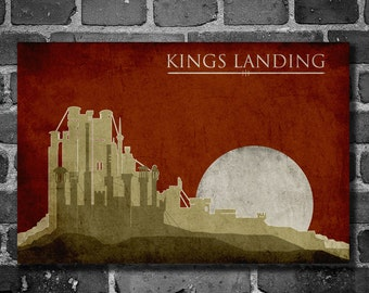 Game of Thrones poster movie art minimalist poster geekery art print sci fi print Kings Landing