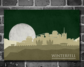 Game of Thrones poster movie art minimalist poster geekery art print sci fi print Winterfell