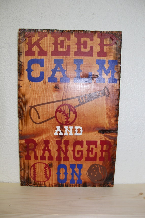 Keep Calm and Ranger On Wooden Rustic-Style Sign (Gunstock)