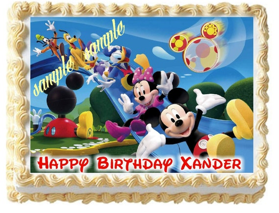 Mickey Mouse Clubhouse Edible Cake Images : Mickey Mouse Clubhouse Mouse Edible Image Frosting Sheet Cake