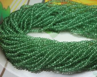 14 Inch Strands,New Mystic Green Amethyst Quartz Micre Faceted Rondelles,3.5-4mm