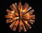 Wood Ceiling Lamp - pendant lamp - ceiling lamp - wood lamp - modern home decor - firework - unique - art