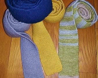 PATTERN-Neckties/Tie Pattern/ Knit Tie Pattern/knit neckties/men's knit tie/stocking stuffer/valentine's day Tie